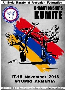 В Гюмри пройдет чемпионат Ширакской области по всестилевому каратэ